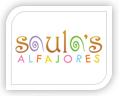 saulas alfajores logo design
