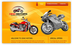dino motors website design